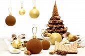 Chirstmas Sweets And Food Garnish For Christmas Table