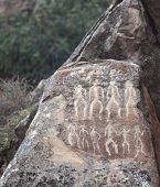 petrographs of Gobustan near Baku