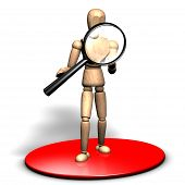 Searching with a magnifier