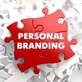 Personal Branding on Red Puzzle.
