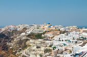 Oia, traditional greek village and Aegan sea, Greece