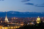 Turin (torino), Night Landscape With Alps