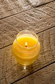 Citronella Candle On Table