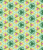 Tie Dye Pattern Yellow, Pink and Green