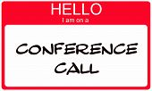 Red Hello I Am On A Conference Call Name Tag