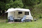 Caravan At Camping