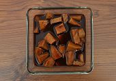 pic of marinade  - Colorful and crisp image of tofu in marinade - JPG
