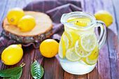 pic of jug  - fresh lemonad in the jug and on a table - JPG