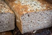 image of polonia  - traditional polish bread with lot of sunflower seeds - JPG