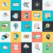 image of blog icon  - Flat design vector illustration icons for website development - JPG