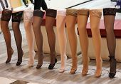 picture of stocking-foot  - Beauty and fashion stockings on a dummy in shop - JPG