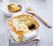picture of missing  - cottage pie with piece missing - JPG