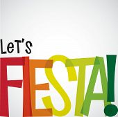 picture of mexican fiesta  - Bright typographic Fiesta card in vector format - JPG