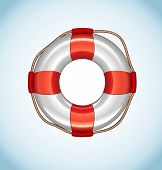 picture of life-support  - White Life Buoy - JPG