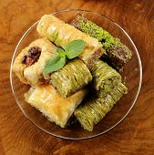 picture of baklava  - Turkish arabic dessert  - JPG