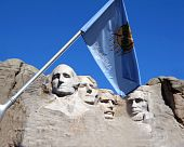 Oklahoma Flag at Mount Rushmore