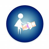 pic of diaper change  - Symbol for women and baby - JPG