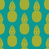 picture of tropical food  - pineapple tropical fruit seamless pattern  - JPG
