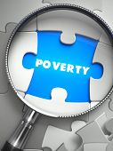 stock photo of poverty  - Poverty through Lens on Missing Puzzle Peace - JPG