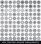 stock photo of bohemian  - Mandalas collection - JPG
