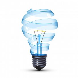 pic of surrealism  - surreal spiral glass tungsten light bulb - JPG