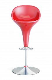 stock photo of stool  - Bar stool isolated on white background - JPG