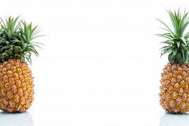 stock photo of modification  - Genetic Modification pineapple fruit modification strange surreal invention - JPG