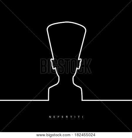 Nefertiti Face Beauty In Black