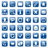 web icons blue