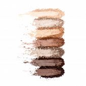 Collection Of Makeup Blush Powder Isolated On White Background. Foundation Powder. Eyeshadow Powder poster