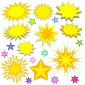 Splashes and Stars, clipart