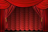 Old Fashioned, Elegant Red Theater Stage Drapes
