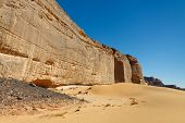 Massive Rock Wall - Akakus (acacus) Mountains, Sahara Desert, Libya