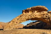 Infudha Natural Rock Arch - Akakus (acacus) Mountains, Sahara, Libya