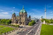 Berlin Cathedral With Tv Tower In Summer, Berlin, Germany poster