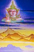 traditionelle thai-Kunst mit Geschichten über die Buddha...