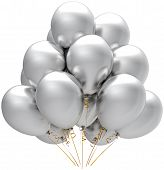 Silver helium balloons party decoration