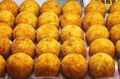 Tray of sicilian arancini