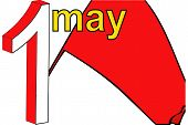 Red Flag Of May Day In England