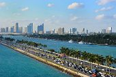 MacArthur Causeway and Miami Skyline