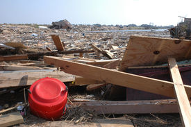 stock photo of katrina  - an inlet full of wreckage in slidell, la after katrina went through. **additional Katrina related images in photographer