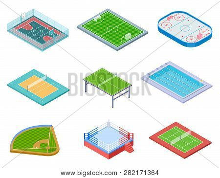 Sport Fields Isometric Sports Playgrounds