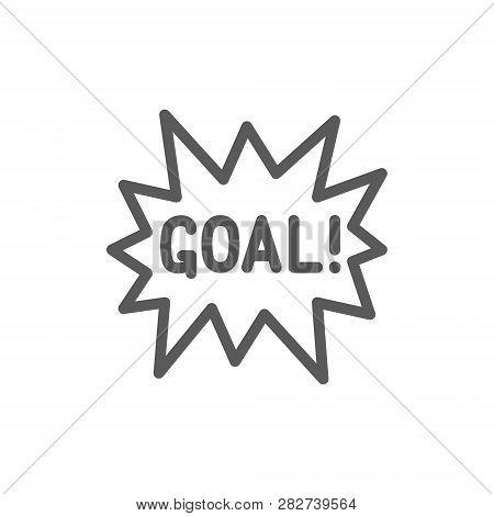 Goal Scored Celebrating Success Line