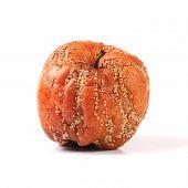 Rotten Apple isolado no fundo branco
