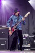 CLARK, NJ - SEPT 17: Bass player Todd Ronning performs with The Paul Rodgers Band at the Union Count