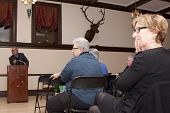 HOBOKEN-DEC 8: American writer Jim Fusilli discusses his latest novel
