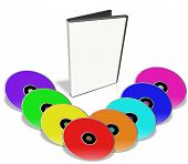 Many Colorful Dvd's.