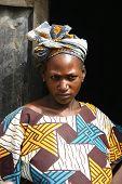 A Fulani nomad woman in traditional dress, Mali.