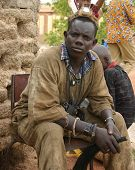 A shaman of the Bobo tribe near Timbuktu, Mali