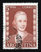 ARGENTINA - BUENOS AIRES  - CIRCA 1948: A stamp printed in Argentina shows image of a political lide